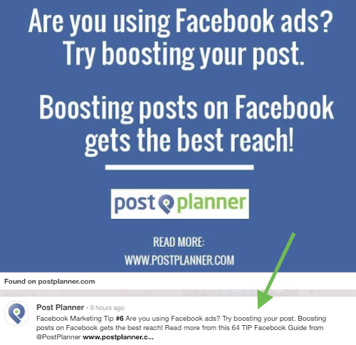 postplanner pinterest post