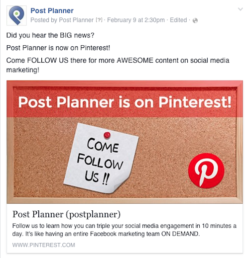 postplanner pinterest announcement
