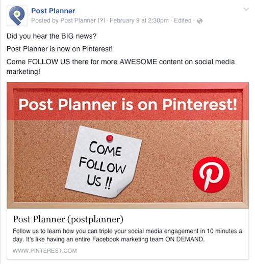 postplanner pinterest announcement