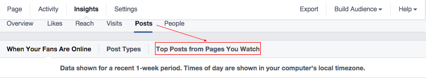 See top posts from pages you watch