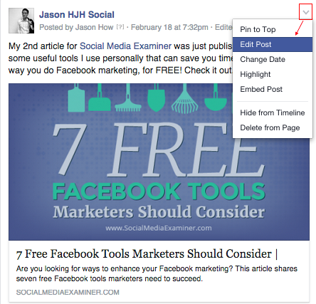how to change facebook page to secret