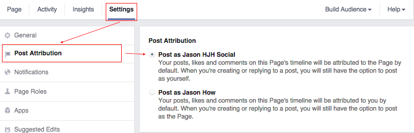 How to set post attribution