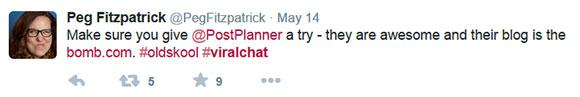 Peg Fitzpatrick loves Post Planner!