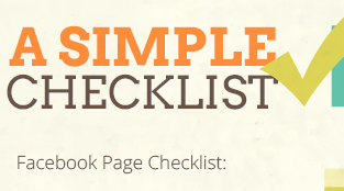 How to Evaluate Your Facebook Page: A Simple Checklist [Infographic]