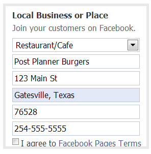 How to create a Facebook Business Page - Step 4