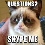 skype me