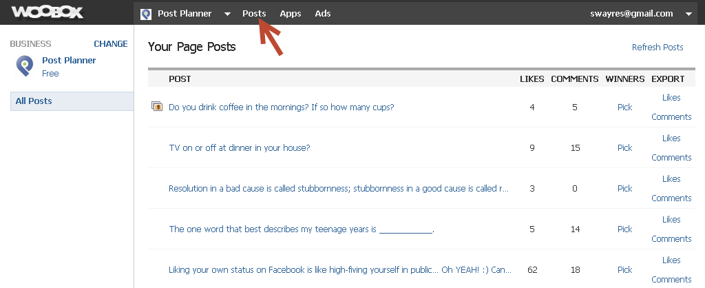 select a post woobox
