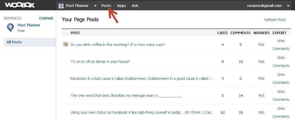 select a post woobox
