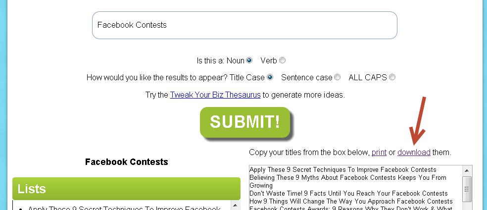 choosing a blog title that converts
