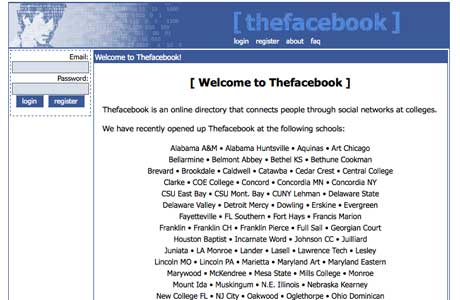the facebook in 2003