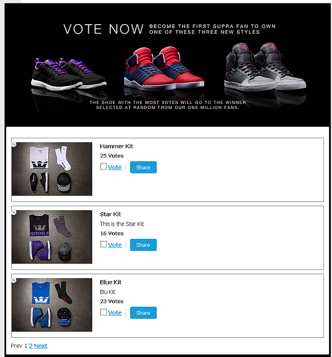 shorstack voting contest app
