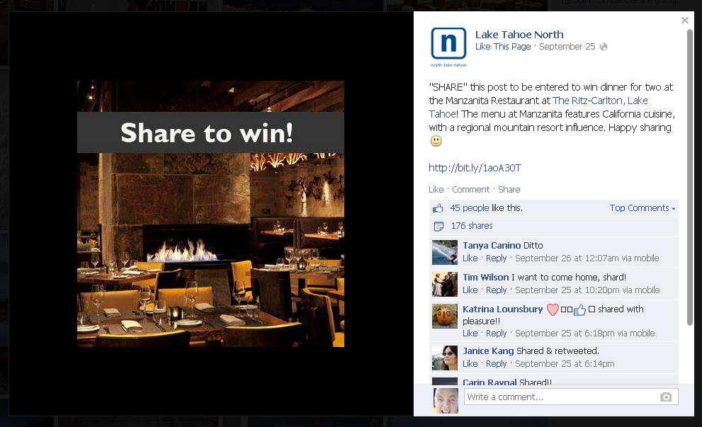share photo to win facebook contest