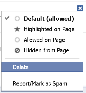 deleting a post by others on facebook