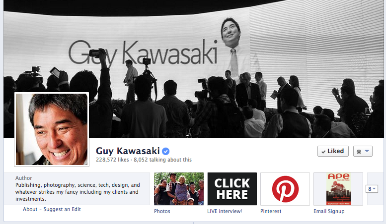 Guy Kawasaki Facebook cover photo