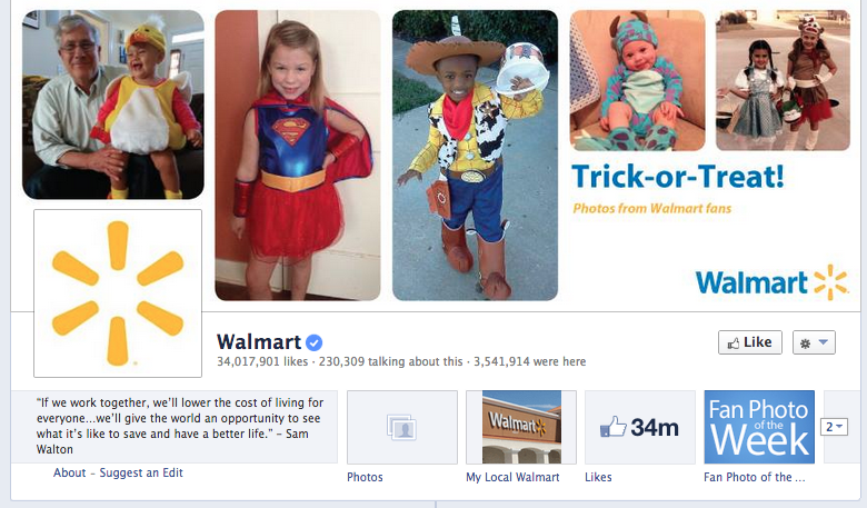walmart facebook cover photo