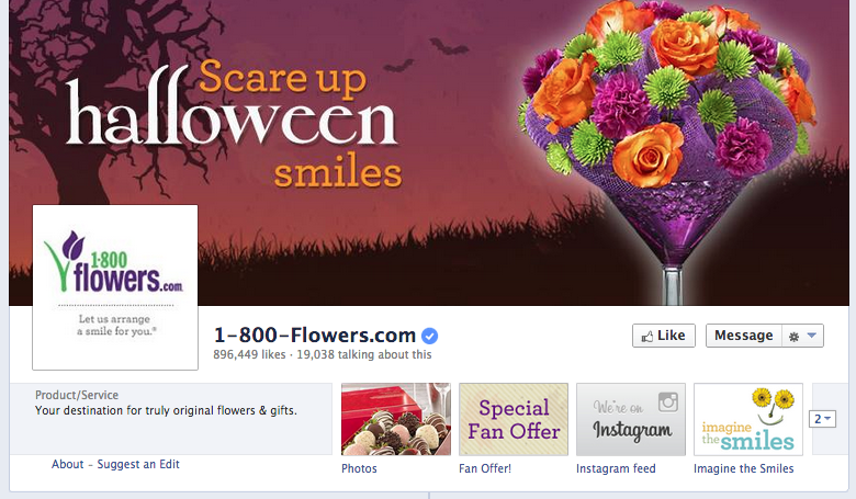 1800 flowers facebook cover image