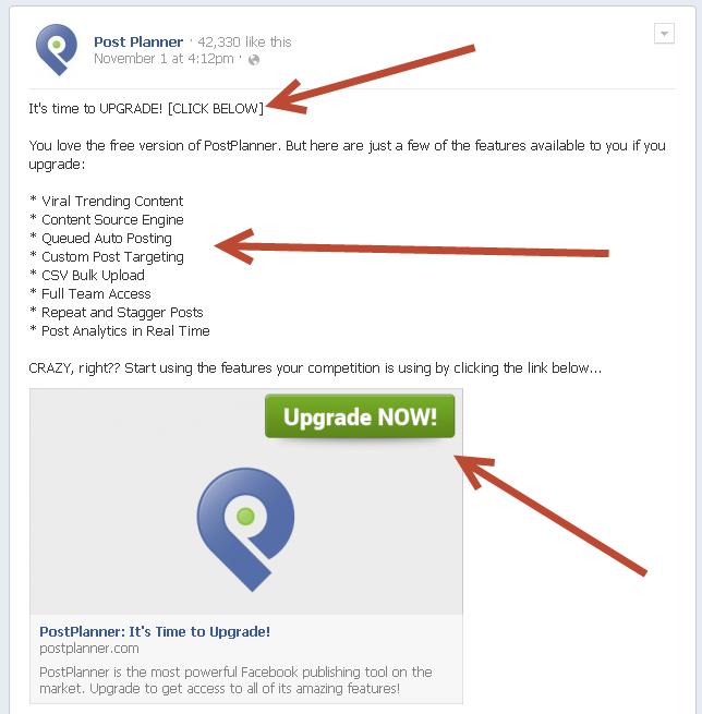 post planner upgrade ad