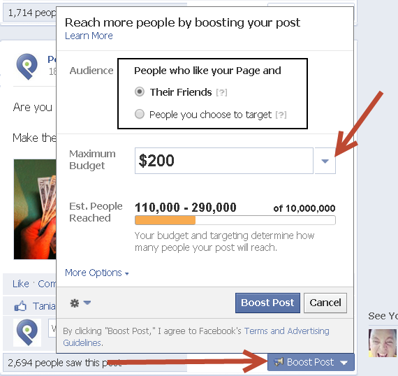 how to boost a facebook post