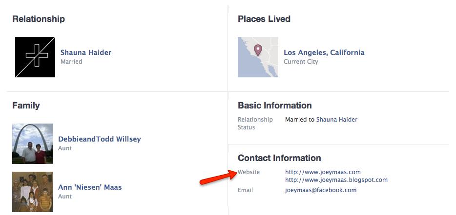 Facebook-Profile-Contact-Information