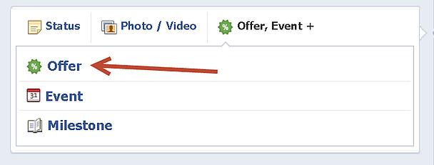 facebook offer setup
