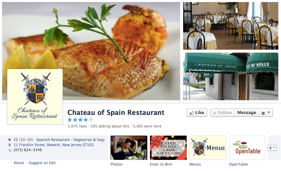 50 facebook pages of restaurants one per state to learn tips from