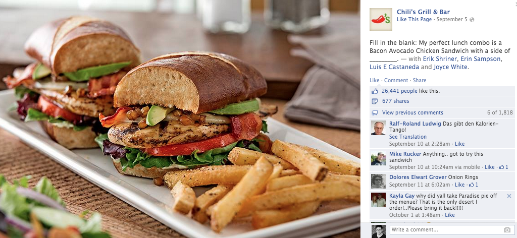Chili's Grill & Bar facebook