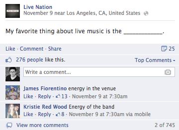 live nation facebook