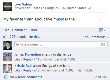 live nation facebook