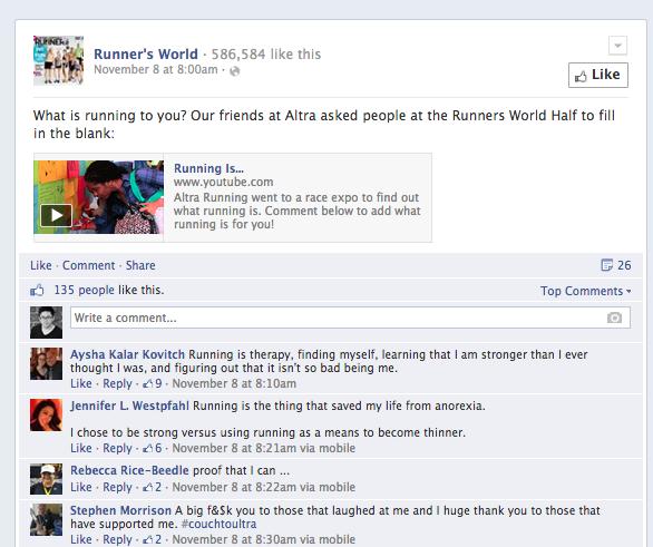 runners world facebook