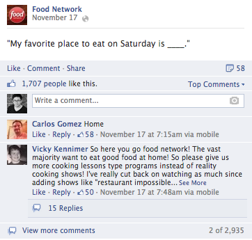 food network facebook