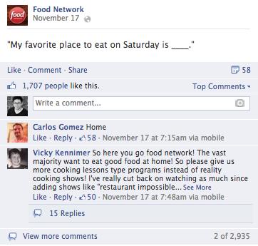 food network facebook