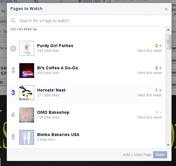 spy on pages to watch in facebook