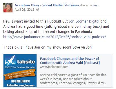 Ravi_Shukle_Cross_promote_Page_Content_Facebook_PostPlanner_Grandma_Mary_Andrea_Vahl