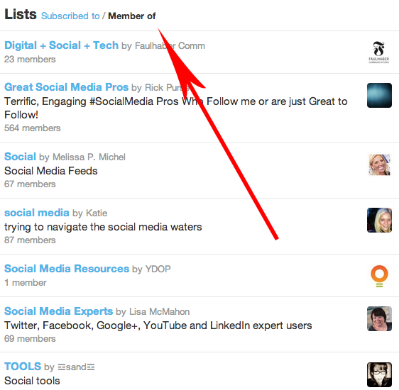twitter list features