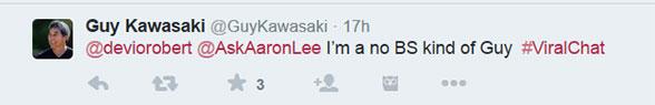 #ViralChat advice from Guy Kawasaki