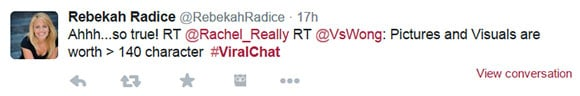 Rebekah Radice on #ViralChat