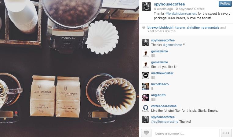 spyhouse coffee instagram