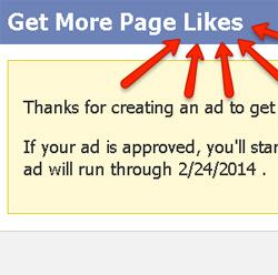 promoted page ads