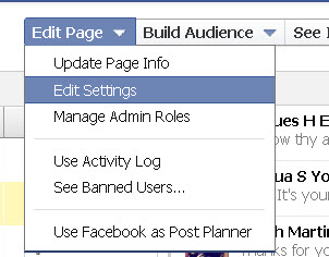 edit settings on facebook