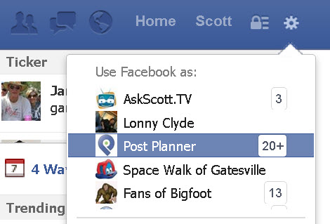use facebook as page