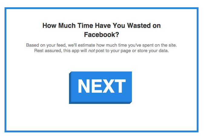 Facebook tracker for time management