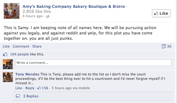 amys bakery postplanner tips how to deal with negative comments on Facebook