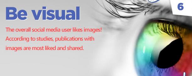 Facebook tips: Be visual