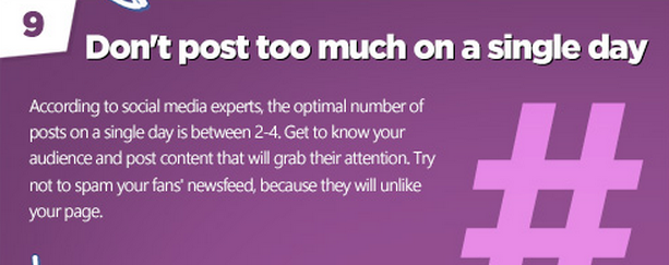 Facebook tips: Don't over post!