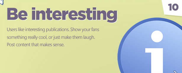 Facebook tips: Be interesting!