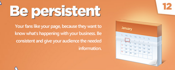 Facebook tips: Be persistent!