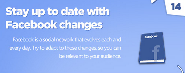 Facebook tips: Stay current with changes.
