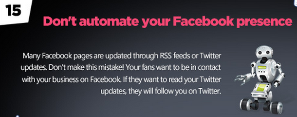 Facebook tips: Automate the right things