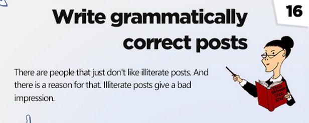 Facebook tips: Write right.