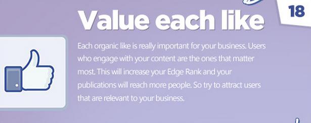 Facebook tips: Be organic!